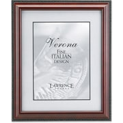 "Lawrence Frames Verona Collection 5"" x 7"" Wooden Walnut Brown Picture Frame with Gold Beads (198757)"