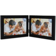 "Lawrence Frames 6"" x 4"" Metal Black Hinged Double Picture Frame (230026)"