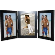 "Lawrence Frames 4"" x 6"" Metal Black Hinged Triple Picture Frame (230043)"