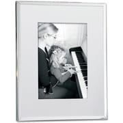 Silver Plated Matted 5x7 Picture Frame