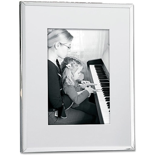 Silver Plated Matted 8x10 Picture Frame | Staples