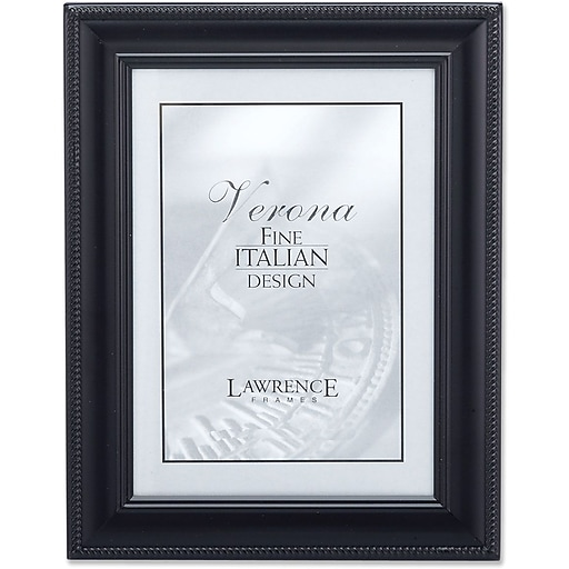 Lawrence Frames Verona Collection 8 X 10 Metal Black Classic Rope