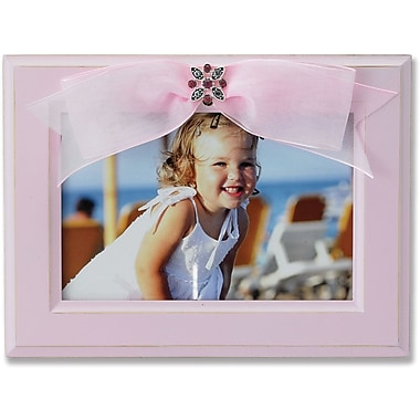 4x6 Pink Wood Picture Frame with Pink Ribbon