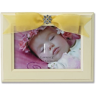4x6 Yellow Wood Picture Frame with Yellow Ribbon