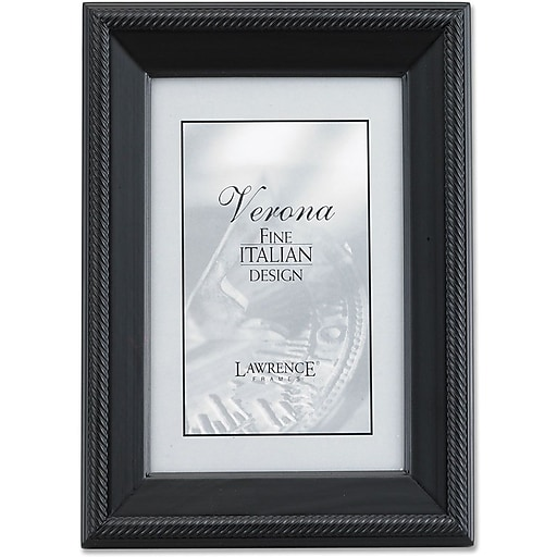 Lawrence Frames Verona Collection 8 X 12 Wooden Black Picture