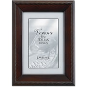 "Lawrence Frames Verona Collection 4"" x 6"" Wooden Walnut Picture Frame (410146)"