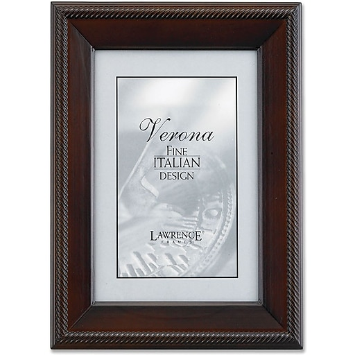 Lawrence Frames Verona Collection 8 X 12 Wooden Walnut Picture