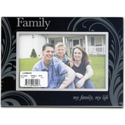 "Lawrence Frames Sentiments Collections ""Family- my family, my life"" 4"" x 6"" Metal/Glass Family Picture Frame (417064)"