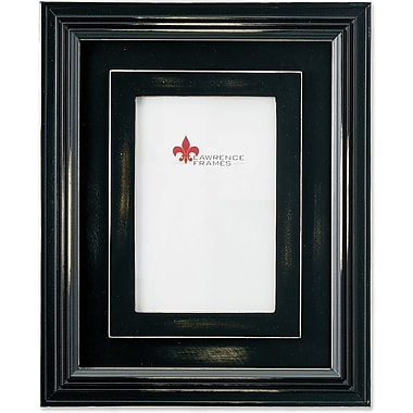 Dimensional Rustic Black Wood 5x7 Picture Frame
