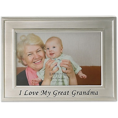 Brushed Metal 4x6 I Love My Great Grandma Picture Frame - Sentiments Collection