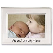 "Lawrence Frames Sentiments Collection ""Me and My Big Sister"" 4"" x 6"" Metal Picture Frame (506164)"