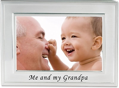 Me and My Grandpa Silver Plated 6x4 Picture Frame - Me And My Grandpa Design