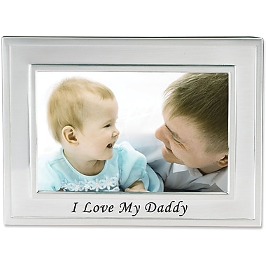 I Love My Daddy Silver Plated 6x4Picture Frame - Me And My Cousin Design