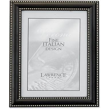 Lawrence Frames Metal Picture Frame Oil Rubbed Bronze with Delicate Double Beading