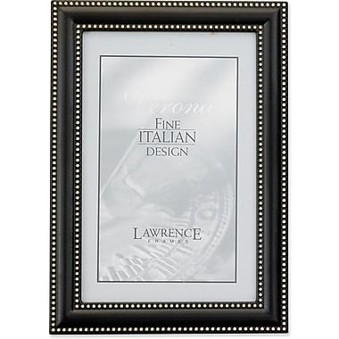 4x6 Metal Picture Frame Oil Rubbed Bronze with Delicate Beading