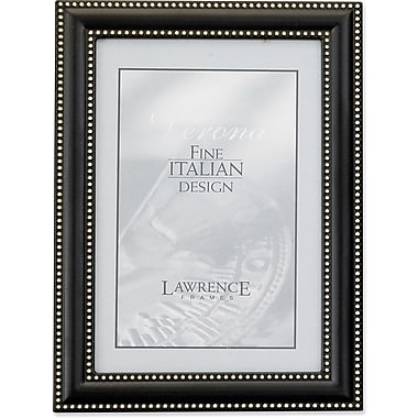 5x7 Metal Picture Frame Oil Rubbed Bronze with Delicate Beading