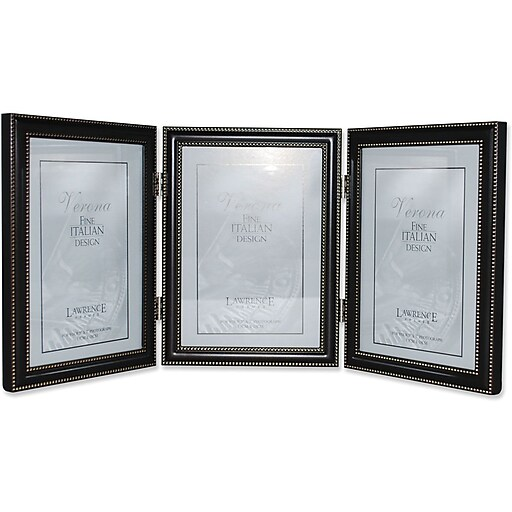 5x7 Hinged Triple (Vertical) Metal Picture Frame Oil Rubbed Bronze ...