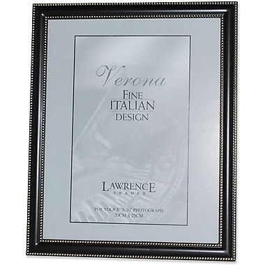 8x10 Metal Picture Frame Oil Rubbed Bronze with Delicate Beading