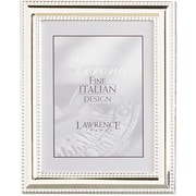 4x5 Metal Picture Frame Silver-Plate with Delicate Beading