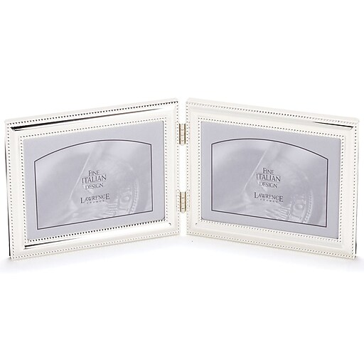510775D Silver Double Bead 7x5 Hinged Double Picture Frame | Staples