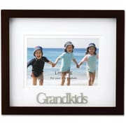 Walnut Wood 4x6 Grandkids Picture Frame - Matted Shadow Box
