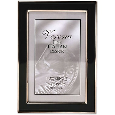 Lawrence Frames Silver Plated Metal with Black Enamel Picture Frame