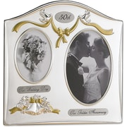"Lawrence Frames Sentiments Collection 4"" x 6"" Metal 50th Anniversary Picture Frame (590143)"