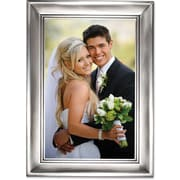 """Lawrence Frames 4"""" x 6"""" Metal Silver Picture Frame (609046)"""