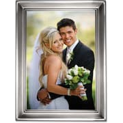 """Lawrence Frames 5"""" x 7"""" Metal Silver Picture Frame (609057)"""