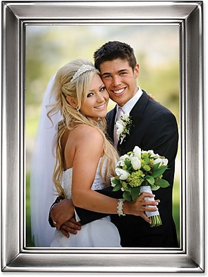 Brushed Pewter 5x7 Metal Picture Frame