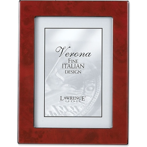 Lawrence Frames Verona Collection 8 X 10 Wooden Burgundy Burl