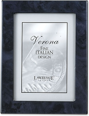 Navy Blue Faux Burl 4x6 Picture Frame - Polished Lustrous Finish With Sides Finished In Black