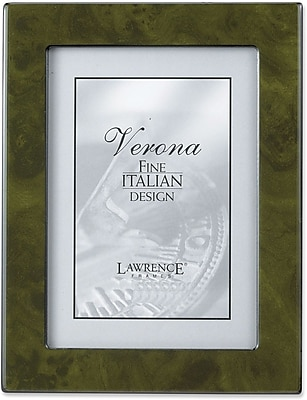 Forest Green Faux Burl 5x7 Picture Frame - Polished Lustrous Finish With Sides Finished In Black