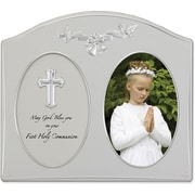 Silver Metal 4x6 Holy Communion Picture Frame
