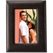"Lawrence Frames 4"" x 6"" Faux Leather Black Picture Frame (685046)"