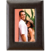 "Lawrence Frames 5"" x 7"" Saddle Stitch Faux Leather Picture Frame (685257)"