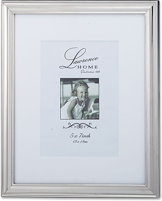 710380 Tailored Metal Silver 8x10 Matted for 5x7 Picture Frame