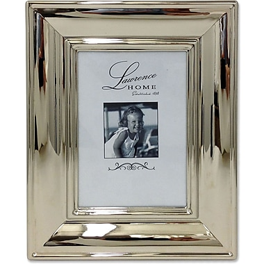 710457 Wide Silver Metal Elegance 5x7 Picture Frame