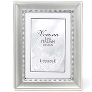 """Lawrence Frames Verona Collection 8"""" x 10"""" Brushed Silver Beaded Picture Frame (720280)"""