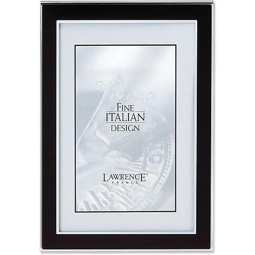 silver and black 4x6 metal picture frame staples. Black Bedroom Furniture Sets. Home Design Ideas