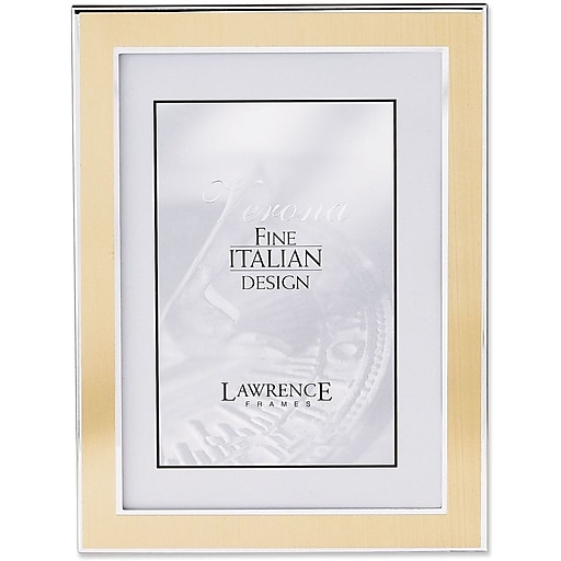 Silver and Gold 5x7 Metal Picture Frame | Staples