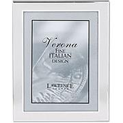 "Lawrence Frames Verona Collection 8"" x 10"" Velvet/Metal Picture Frame, Brushed Silver (750080)"