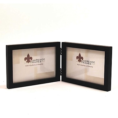 4x6 Hinged Double (Horizontal) Black Wood Picture Frame - Gallery Collection