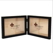 "Lawrence Frames 5"" x 7"" Wooden Black Double Picture Frame (755575D)"