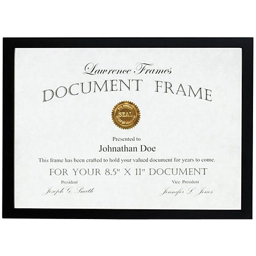 Lawrence Frames 85 X 11 Wooden Black Picture Frame 755581 Staples