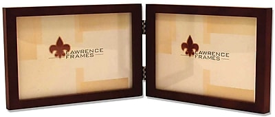 4x6 Hinged Double (Horizontal) Walnut Wood Picture Frame - Gallery Collection
