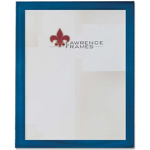 Lawrence Frames 8 X 10 Wooden Blue Picture Frame 755780 Staples