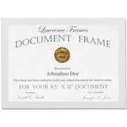 "Lawrence Frames 8.5"" x 11"" Studio Wood White Picture Frame (755881)"