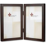 755946D Espresso Wood 4x6 Hinged Double Picture Frame - Gallery Collection