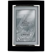 """Lawrence Frames Verona Collection 5"""" x 7"""" Metal Black/Silver Domed Picture Frame (760157)"""